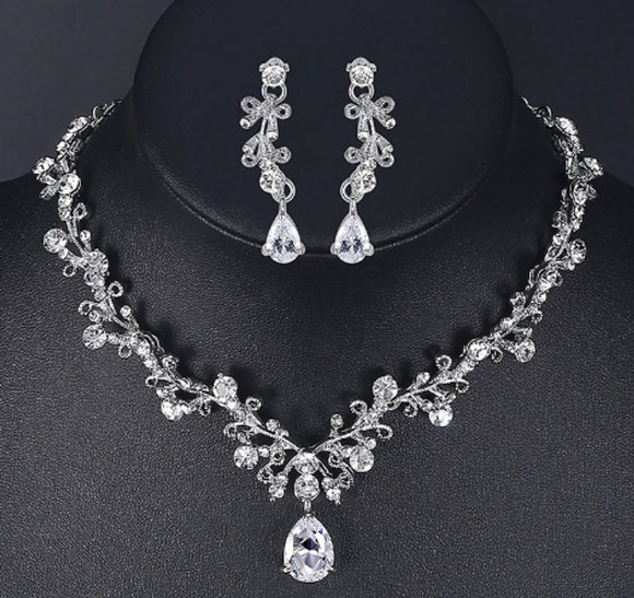 Luxury cubic zirconia bridal jewelry sets