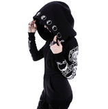 Gothic Long Sleeve Autumn Winter Hoodies Sweatshirts
