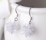 Beautiful High Quality Ice Flower Drop Earrings
