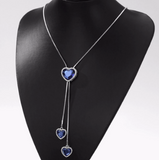 Blue Heart Necklaces Fashion Jewelry Valentine Gift