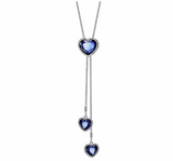 Austria Crystal Blue Heart Necklaces Fashion Jewelry