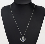 Beautiful Rhinestone Love Heart Pendant Necklaces Fashion Jewelry