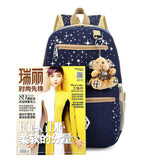 3pcs/set School Bags Star Printing Cute Backpacks