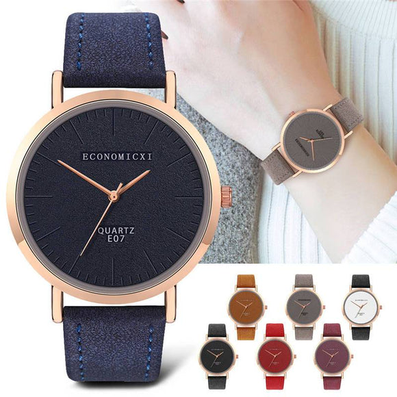 Simple Dial Quartz Wristwatches Fashion Watches