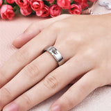 Fashion Stainless Steel Couple Rings Crown Her King His Queen Jewelry