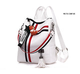 New Retro Fashion Zipper Ladies PU Leather High Quality Backpack