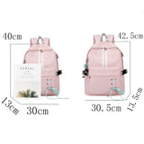 Fashion Anti Theft Reflective Waterproof Women Backpack USB Charge School Bags