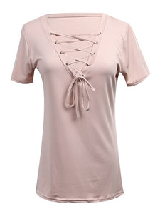 Trendy Fashion Summer Style V-neck T-Shirt Top