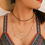 Bohemian Layered Chain Chocker Necklace Charms Pendant Jewelry