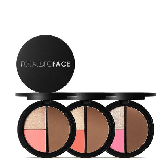 Highlighter & Bronzer Palette Face Contour Shimmer Highlighter Blusher Powder