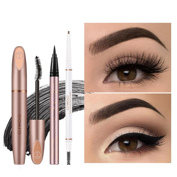 3pcs Eyes Makeup Set Ultra Fine