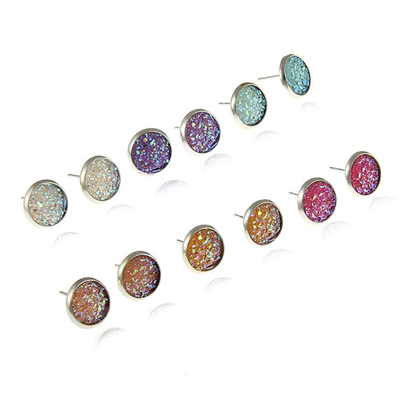 New Fashion Rhinestone Stud Earrings Mixed Colors