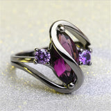 Fashion Luxury Purple Zircon CZ Crystal Rings Jewelry