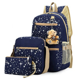 blue school backpack set for kids