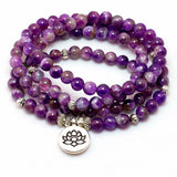 Natural Purple Crystal Chakra Bracelet or Necklace