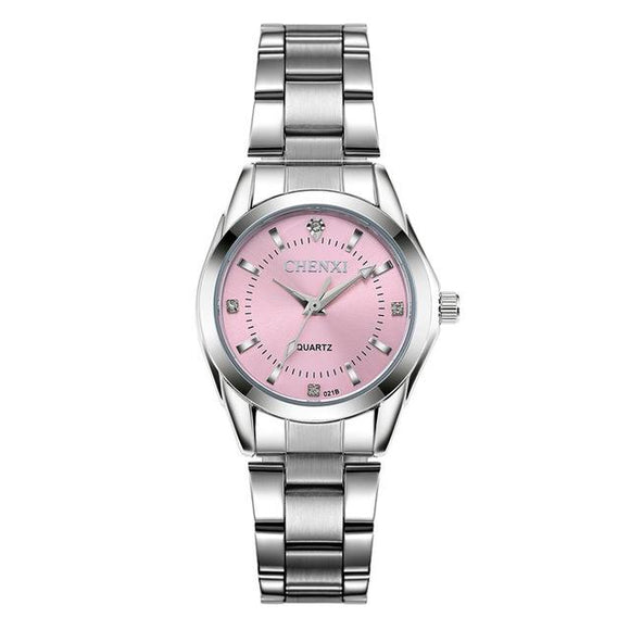 Fashion Watch Luxury Women's Casual Waterproof Pink Watches