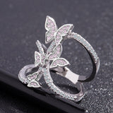 Butterfly Crystal Zircon Ring Jewelry