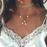 Bohemia Multilayer Chain Choker Fashion Necklaces & Pendants