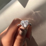 Fashion Crystal Heart Zircon Rings Jewelry