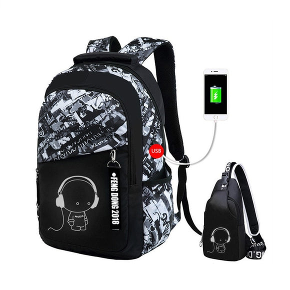 Waterproof Large Backpack For Teenagers School Backpacks