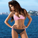Push Up Bikini Cross Patchwork Swimwear Swimsuit
