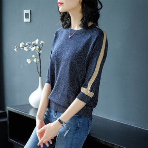 Thin Sweater Knitted Fashion Pullover