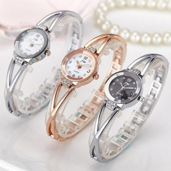 Fashion Rhinestone Watches Stainless Steel Quartz Bracelet Watch