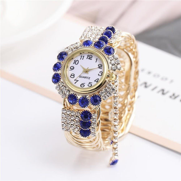 Luxury Rhinestone Bracelet Watches Ladies Wristwatch