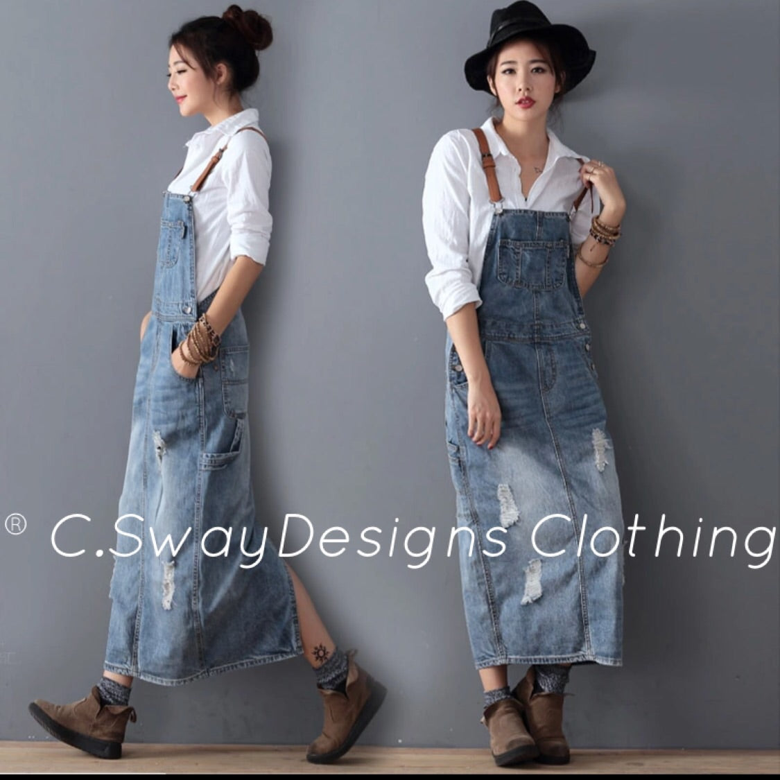 134c170fa1 Denim Jumper Dress – C Sway Designs Clothing