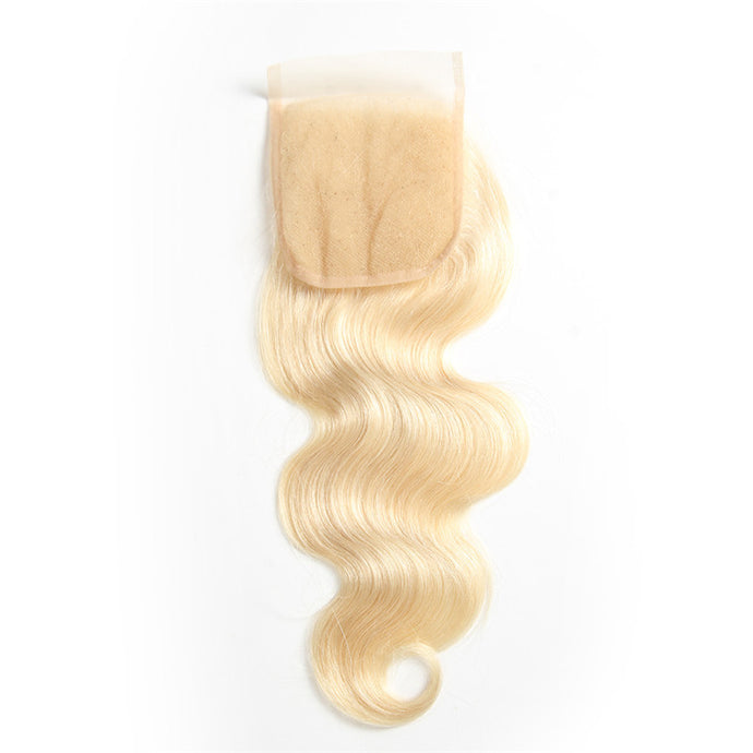 Blonde 613 - Closure Bodywave 4x4