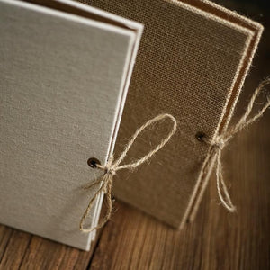 Handmade Linen Photo Album - heilsadiyalbum