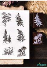 Load image into Gallery viewer, Jungle Wood Rubber Stamps - heilsadiyalbum