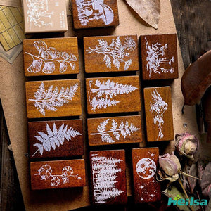 Jungle Wood Rubber Stamps - heilsadiyalbum