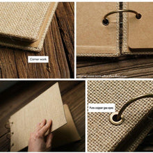 Load image into Gallery viewer, Burlap Scrapbook Album - heilsadiyalbum