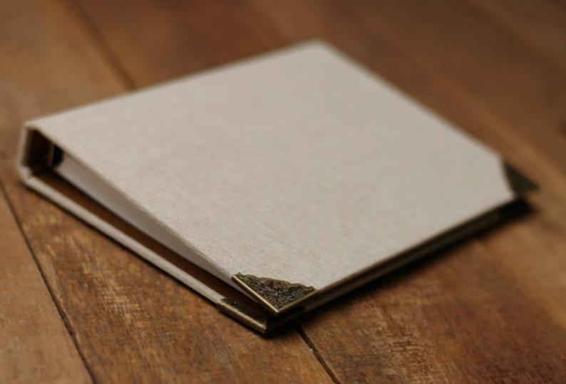 Linen Cover Journal Scrapbook - heilsadiyalbum