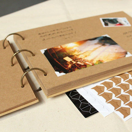 A4 Kraft Scrapbook Album - heilsadiyalbum