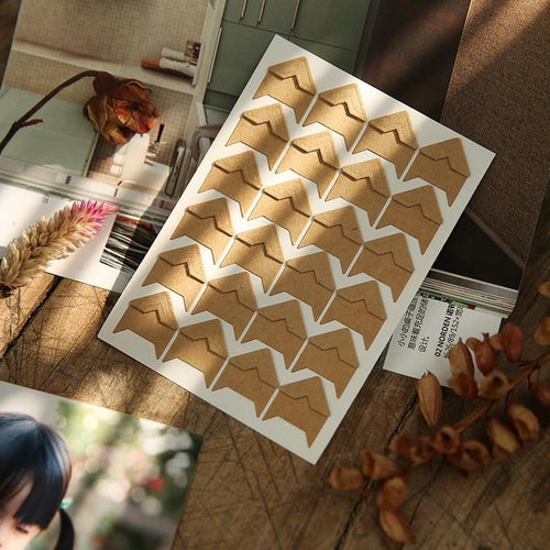 Kraft Paper Photo Corners - heilsadiyalbum