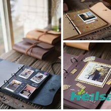 Load image into Gallery viewer, Handme Genuine Leather Scrapbook Album - heilsadiyalbum
