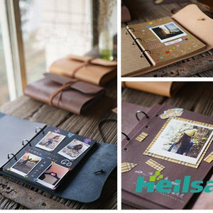 Handme Genuine Leather Scrapbook Album - heilsadiyalbum