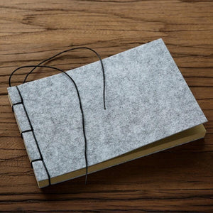 Felt Retro Thread-bound Book Journal - heilsadiyalbum