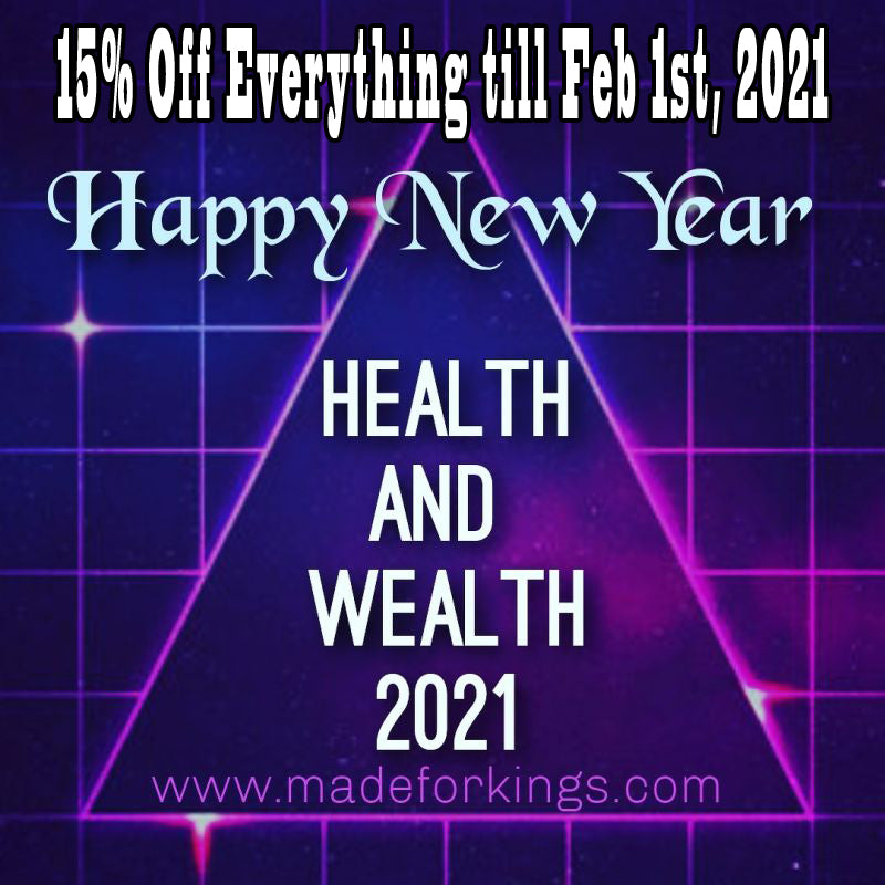 NEW YEAR PROMOTION!!! 15% OFF EVERYTHING UNTIL FEB 1st, 2021.  NO CODES NEEDED