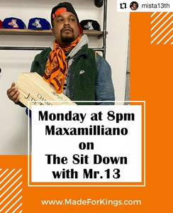 The Sit Down with Mr.13 - Maxamilliano (M12 Brand Ambassador) Podcast Audio