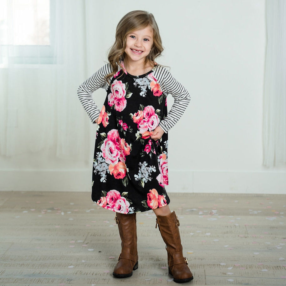 2-8T Mother and daughter Floral Dress 2-8T