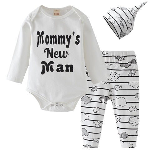 Bodysuit Cloud Pants Hat 3Pcs  3M TO 18M