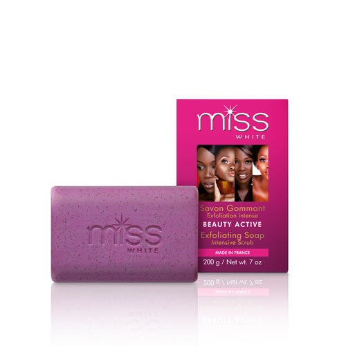 Fair & White Miss White Beauty Active Exfoliating Soap - Fair & White - Fade Dark Spots, Even Skin Tone, Skin Lightening, Skin Brightening, Skin Bleaching, Hydroquinone, Fair and White