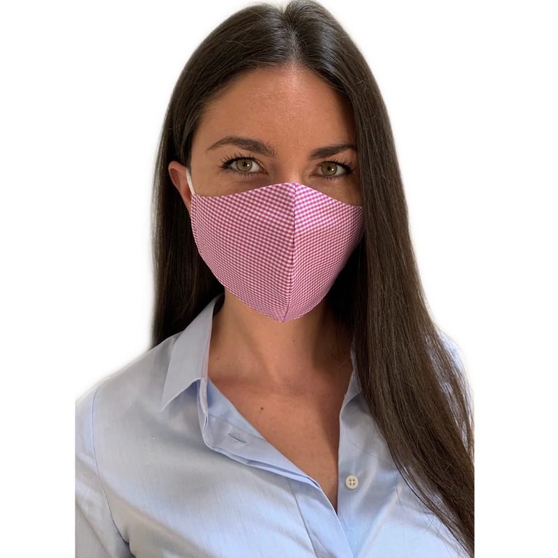 Cotton Fitted Face Mask - 5 Pack