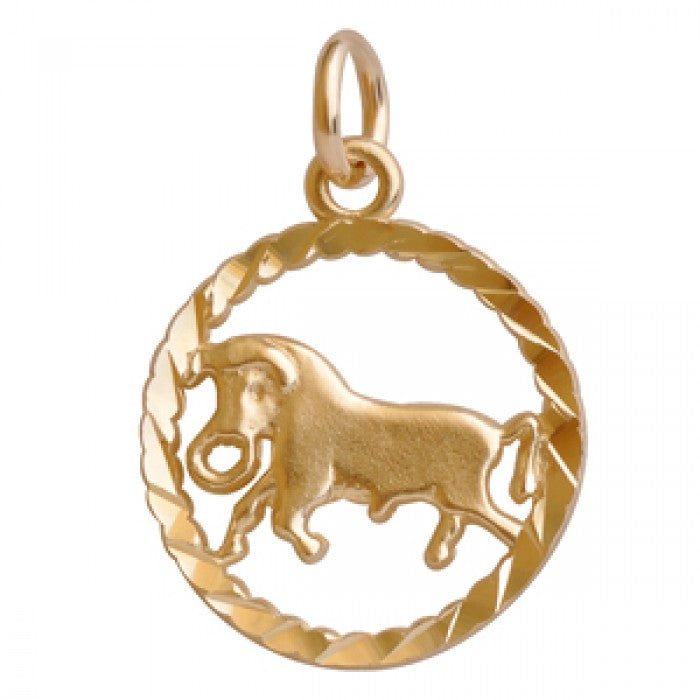 "10K Yellow Gold Taurus Pendant Necklace(22"" Chain)"