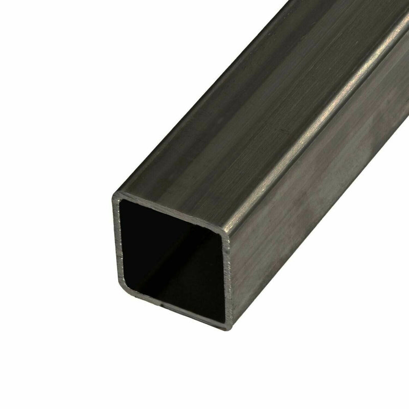 "Steel Mechanical Square Tube, 4""x4""x 0.083 14ga Gauge wall 12 Inches 1ft Long"