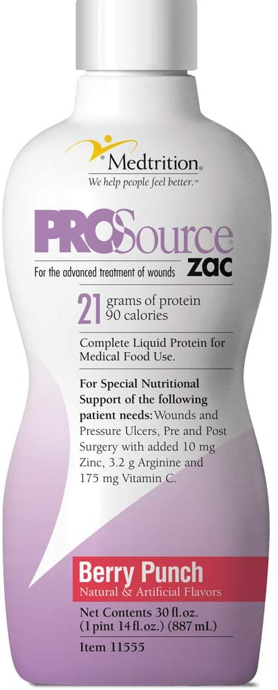 Protein Supplement ProSource ZAC™ Berry Punch Flavor 32 oz. Bottle Ready to Use (1 EA)