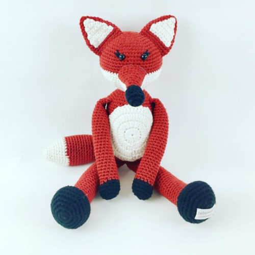Hand Knitted Huggable - Missy The Fox